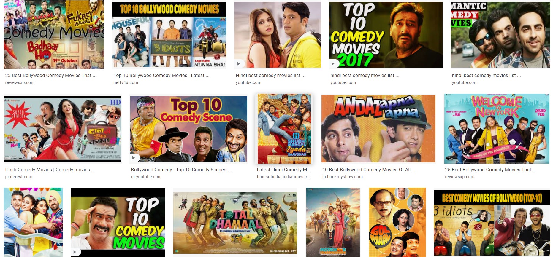10 Best Bollywood Comedy Movies