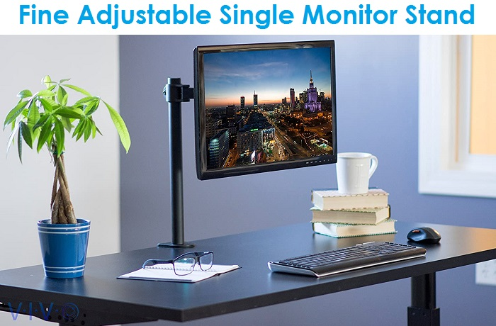 VIVO STAND-V001 - Adjustable Single Monitor Stand