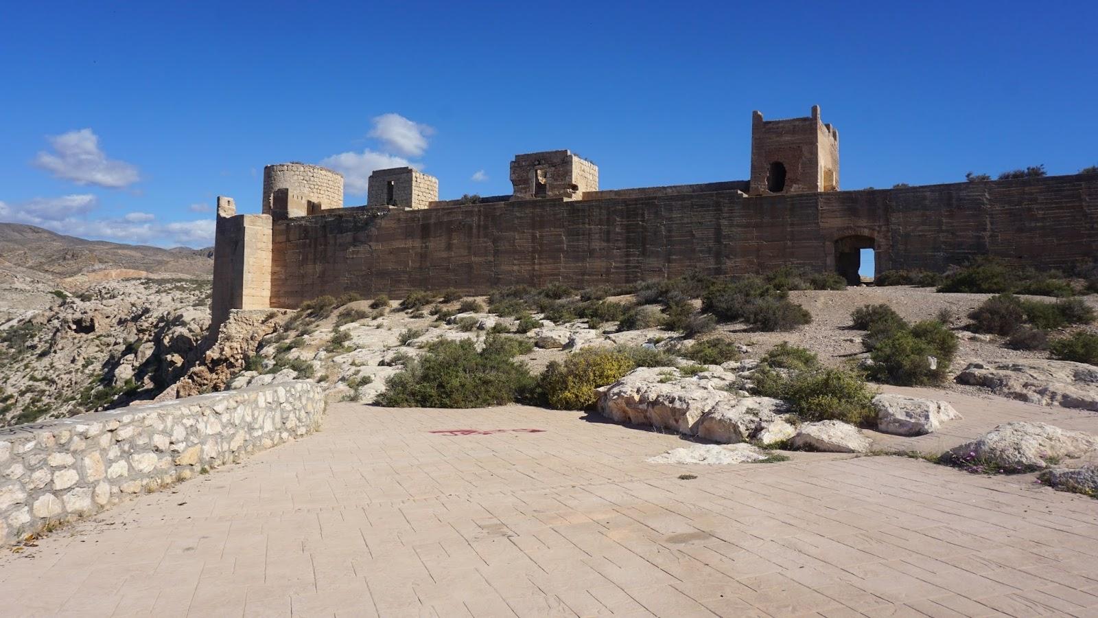 zamek Alcazaba, Hiszpania, atrakcje Hiszpanii, Almeria