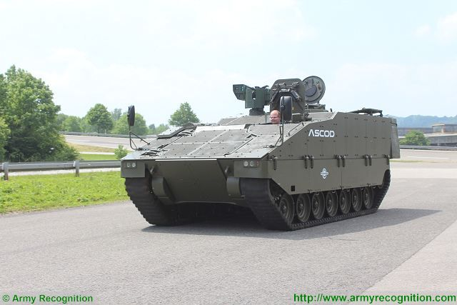 ASCOD APC light tracked armoured personnel carrier live