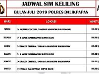 Jadwal SIM Keliling Balikpapan Juli 2019