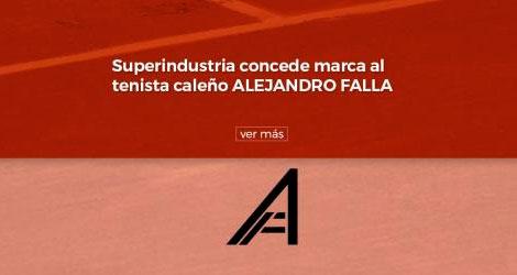Superindustria concede marca al tenista caleño Alejandro Falla