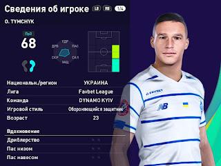 PES 2021 Faces Olexandr Tymchyk by Serge