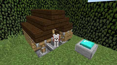 マイクラの犬小屋画像04