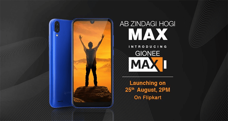 Gionee Max will feature a large 5,000mAh battery