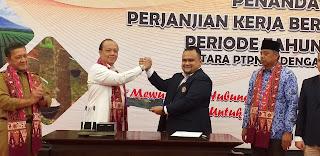 SAH, Dirut PTPN VI Dengan Ketua Umum SP BUN PTPN VI Telah Melaksanakan PKB Periode 2020-2021.