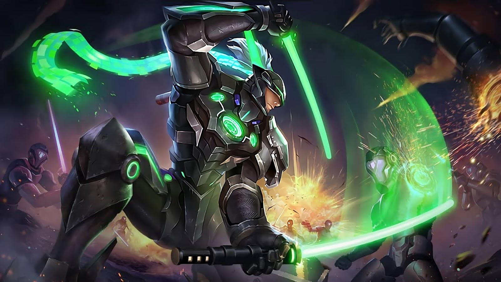 Wallpaper Saber Force Warrior Skin Mobile Legends HD for PC