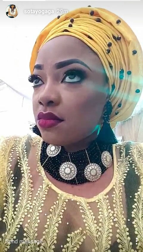 Tayo Sobola looks alluring in makeup selfies
