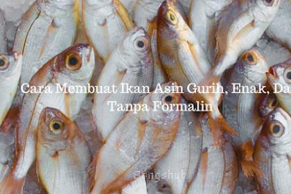 Cara Membuat Ikan Asin Gurih, Enak, Dan Tanpa Formalin