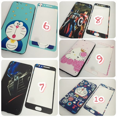 soft,case,karakter,4d,360,tempered,glass,full,layar,soft case,doraemon,avenger,kitty,hello,korean,keroppi,cat,dog,robot