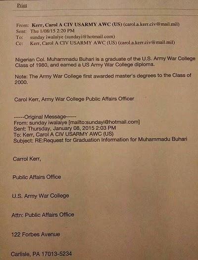 buhari certificate us army college