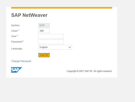 India Post SAP login screen in laptop