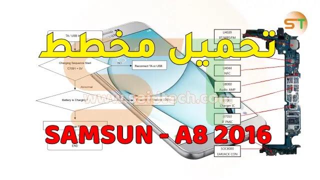 مخطط Samsung Galaxy A8 2016
