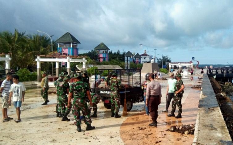 Taman Pusaka Kota Benteng Jadi Sasaran Aksi Kerja Bakti Kodim 1415 Kepulauan Selayar