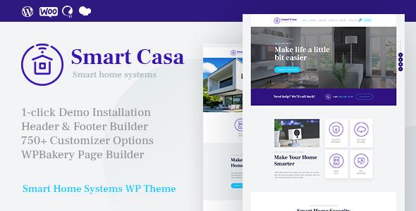 Smart Casa v1.0.2 - Chủ đề Công nghệ & Tự động hóa Gia đình