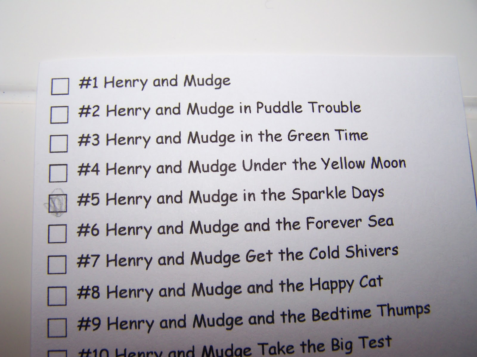 50 Henry And Mudge Under The Yellow Moon Worksheets