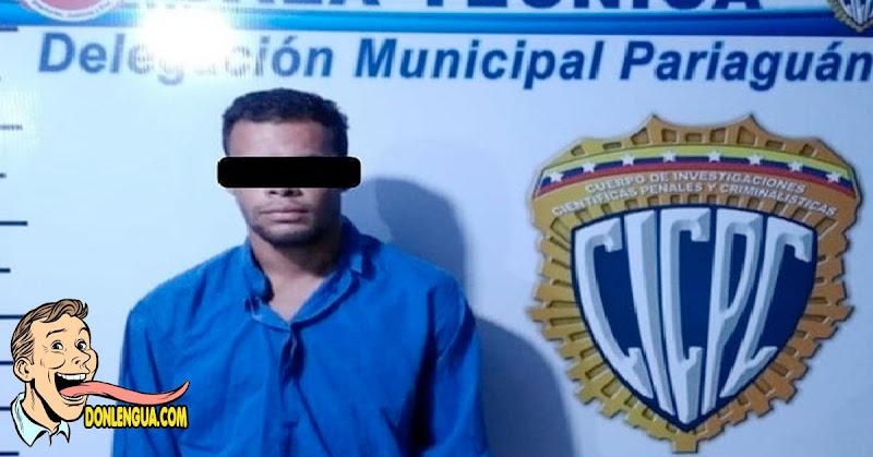 Extorsionista telefónico de Pariaguán fue detenido