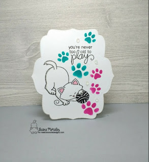 Never Too Old To Play Card by Diane Morales| Newton Unwinds Stamp Set by Newton Nook Designs