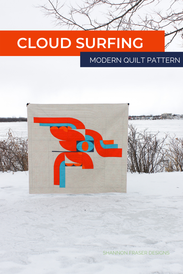 Cloud Surfing Quilt Pattern out in the Wild | Shannon Fraser Designs #modernquiltpattern #quiltingcurves #quiltsinthewild #modernquilter