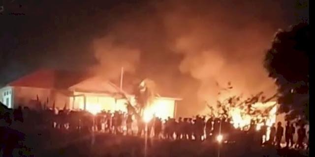 14 Orang Diamankan Polisi Pasca Pembakaran Polsek Candipuro Lampung Selatan