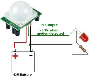 microcontroller home projects hc sr501 without power supply. Black Bedroom Furniture Sets. Home Design Ideas