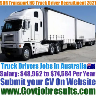 SDR Transport HC Truck Driver Recruitment 2021-22