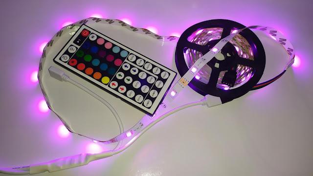 شريط مصابيح ليد لاصق للتزيين و الحفلات 10 متر - LED Strip Light RGB 5050 SMD Flexible 10M Tape