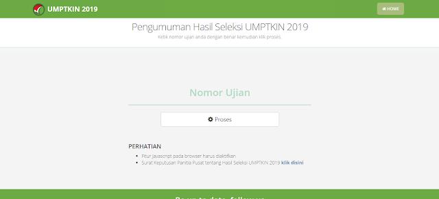 Pengumuman UM-PTKIN 2019
