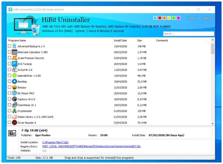 HiBit Uninstaller :  Ιδανική εφαρμογή και για μαζική απεγκατάσταση προγραμμάτων στα Windows
