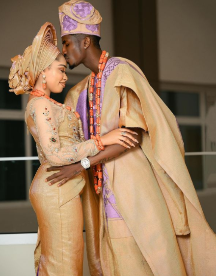 Yoruba Actress Yetunde Barnabas and Footballer Peter Olayinka hold their wedding introduction in Lokoja (Pictures)