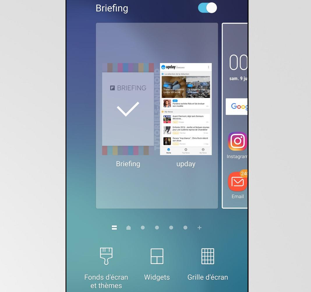 Étapes pour activer ou désactiver Flipboard Briefing sur SAMSUNG