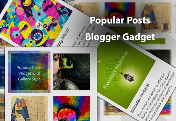 populare posts blogger gadget new style