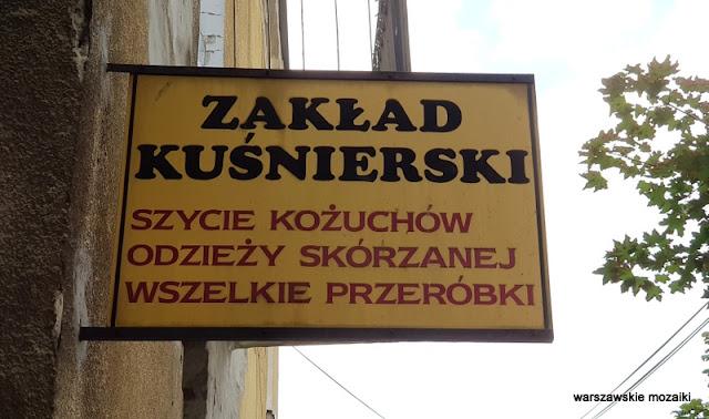 Warszawa Warsaw szyld retro Praga Południe
