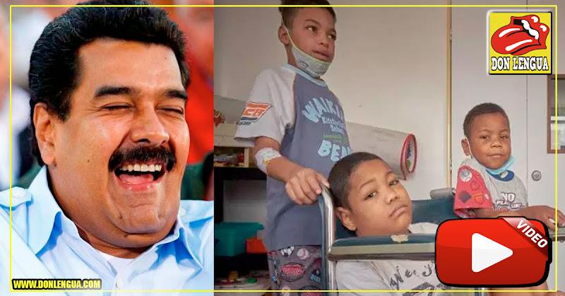 Maduro prefiere que los niños enfermos mueran para no segur dando gastos al país