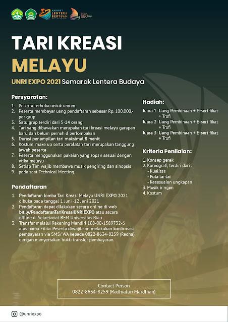 UNRI EXPO || INFO PERLOMBAAN SEMARAK LENTERA BUDAYA 2021