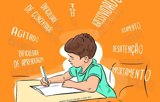 Menino com dificuldade escolar encaminhado para psicologia