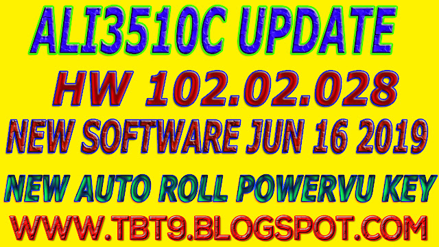 ALI3510C HARDWARE 102.02.028 WITH AUTOROLL POWERVU KEY TEN SPORTS NEW SOFTWARE GREEN GO TO RECEIVERS, ALL SOFTWARE,