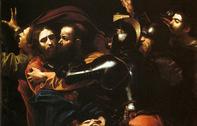 "O Beijo de Judas ""A captura de Cristo"" de Caravaggio"