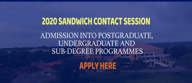 UNILORIN Sandwich Admission Form 2020 | UG, PG & Sub-Degree