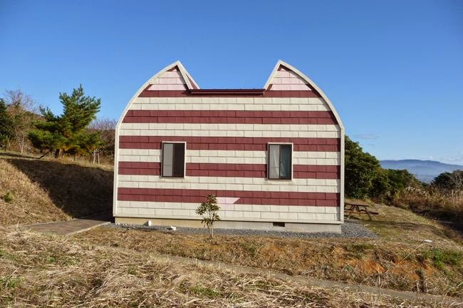 Cat shaped house in Cat Island Tashirojima Japan