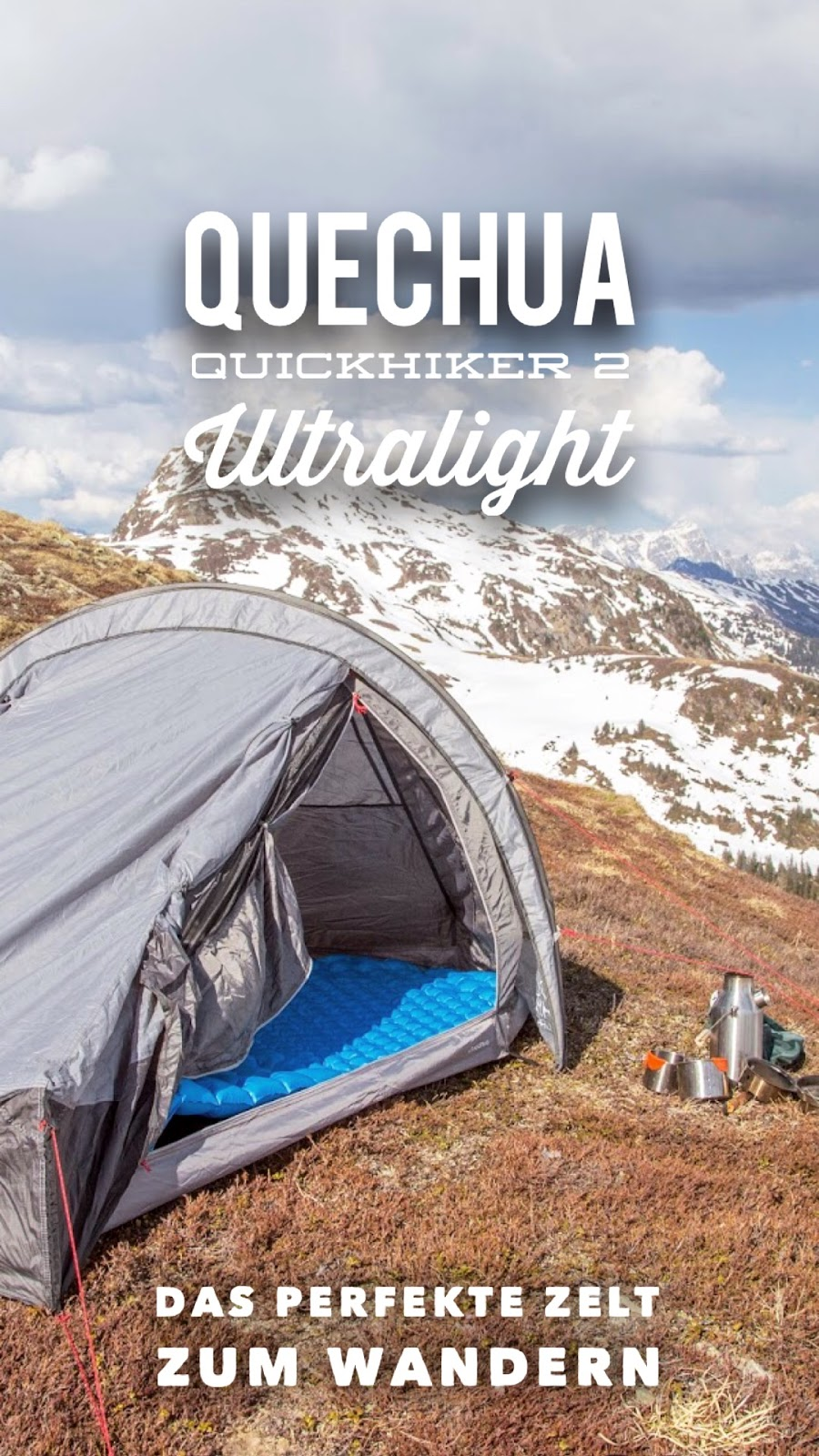 quechua quickhiker 2 ultralight 2 personen zelt gear. Black Bedroom Furniture Sets. Home Design Ideas