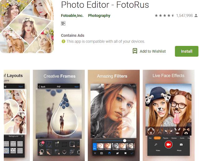Kumpulan Aplikasi Edit Foto Terbaik Android 2019, Dijamin Bikin Kekinian tomsheru.com