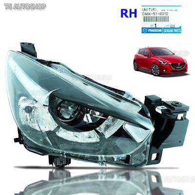 Đèn pha trái + đèn pha phải Mazda 2 hatchback 2015 2016 đèn bi-LED| Đèn pha Mazda 2 2016| Đèn pha trái Mazda 2 2016| Đèn pha phải Mazda 2 2016