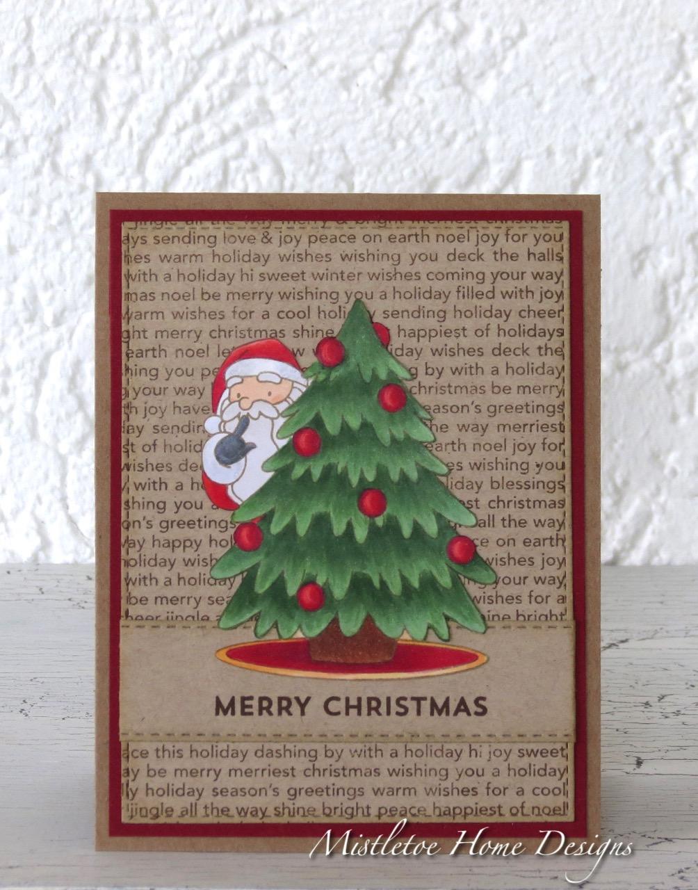 Mistletoe Home Designs: Christmas card with MFT Secret Santa