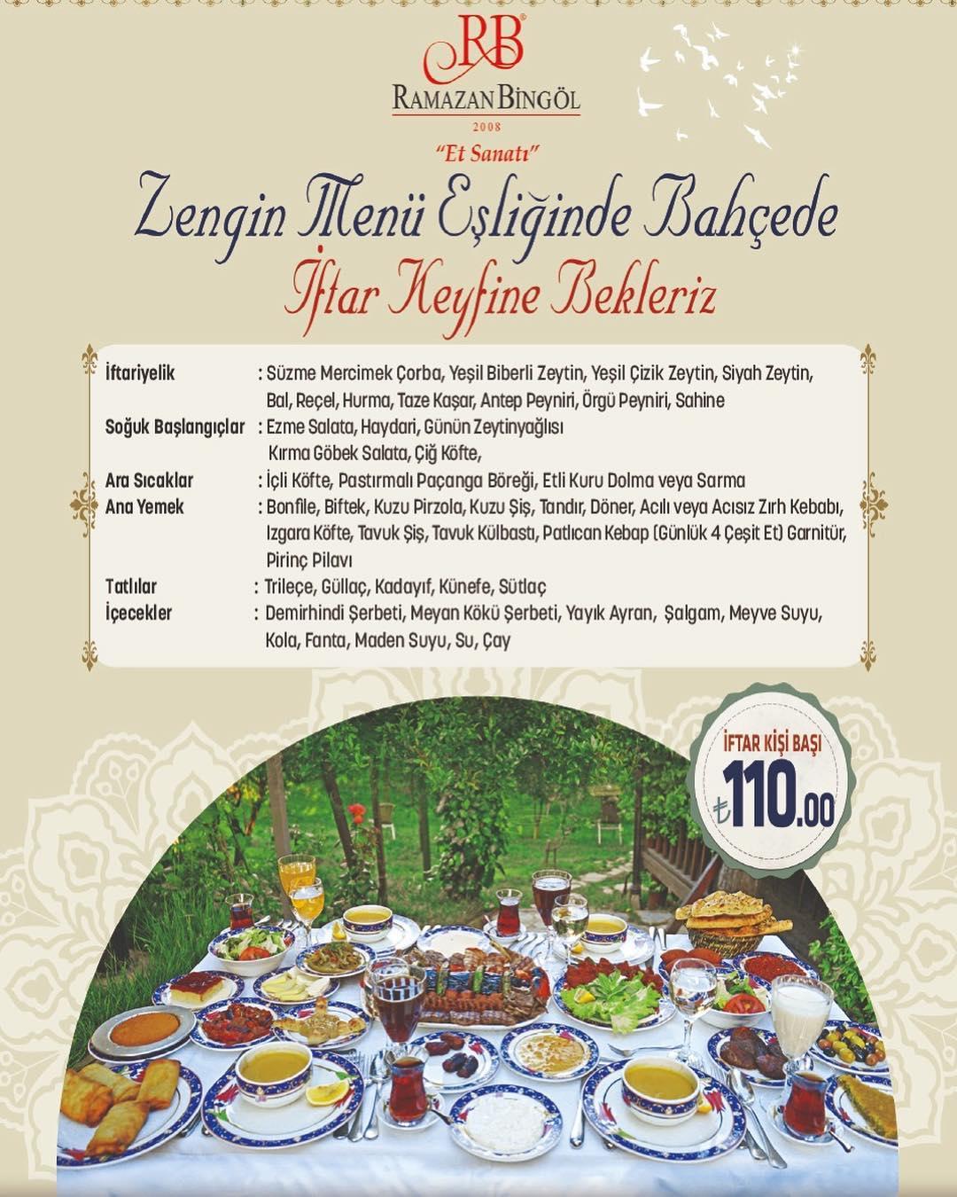 Ramazan Bingöl Et Lokantası Umraniye İstanbul MENU