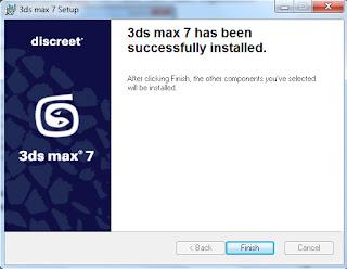 Selesai Instal 3D Studio MAX 7.0