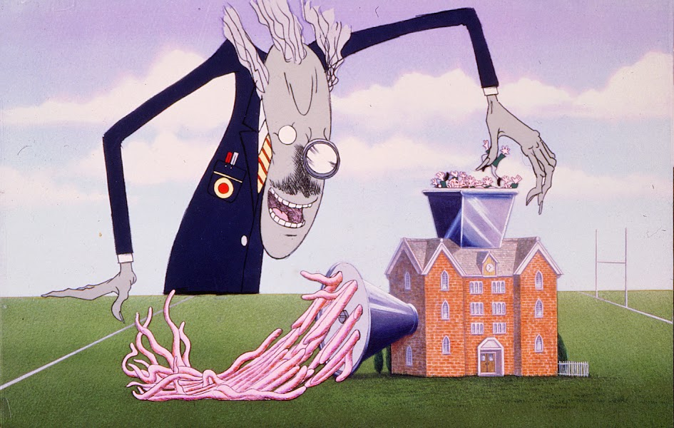 Una de las ilustraciones de Gerald Scarfe para la canción Another Brick in the Wall / WEB / MGM
