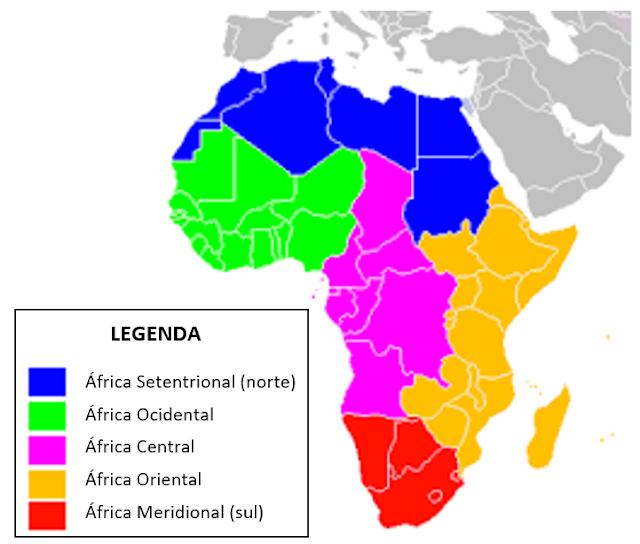 regionalizacao fisica africa do continente africano