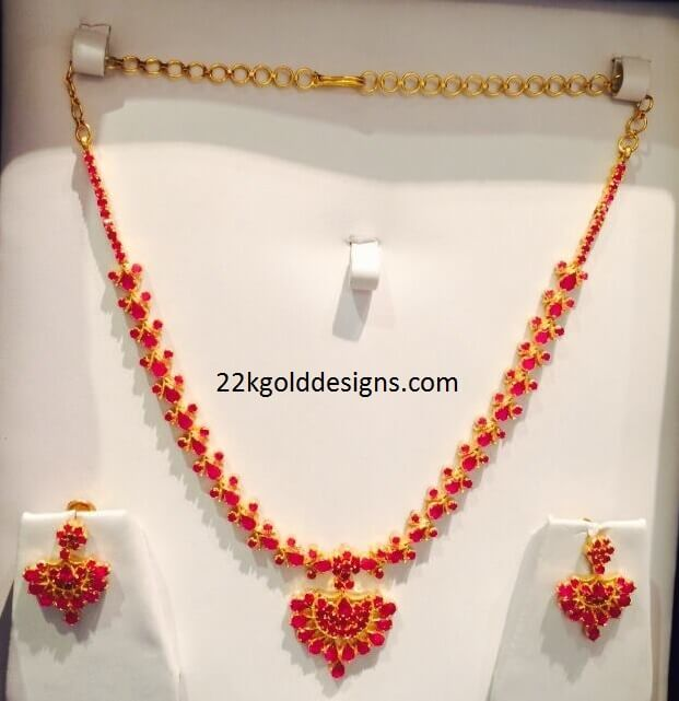 Pearl Jewellery Necklace >> Ruby Earrings Archives - Page 2 of 3 - 22kGoldDesigns