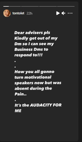 Kindly get out from my DM- Tonto Dikeh slams those criticizing her for announcing her Relationship